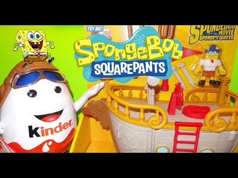 Nickelodeon Spongebob Imaginext Fisher-Price Krabby Patty Food Truck Pirate Ship USA Toy Unboxing