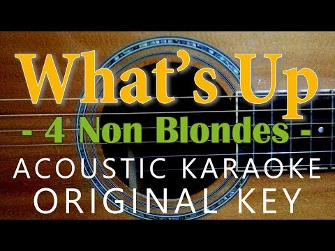 What's Up - 4 non blondes [Acoustic karaoke | Original Key]