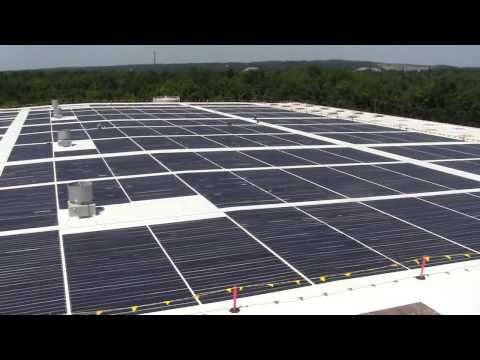 Thin Film Solar Laminate Panel Installation