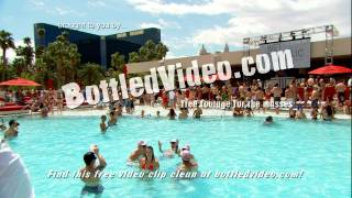 Free Stock Footage - Naughty Girls Spank Each Other at a Las Vegas Pool Party by BottledVideo.com