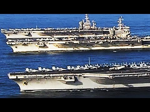 Rare THREE-CARRIER STRIKE GROUP! An UNPRECEDENTED SHOW of US