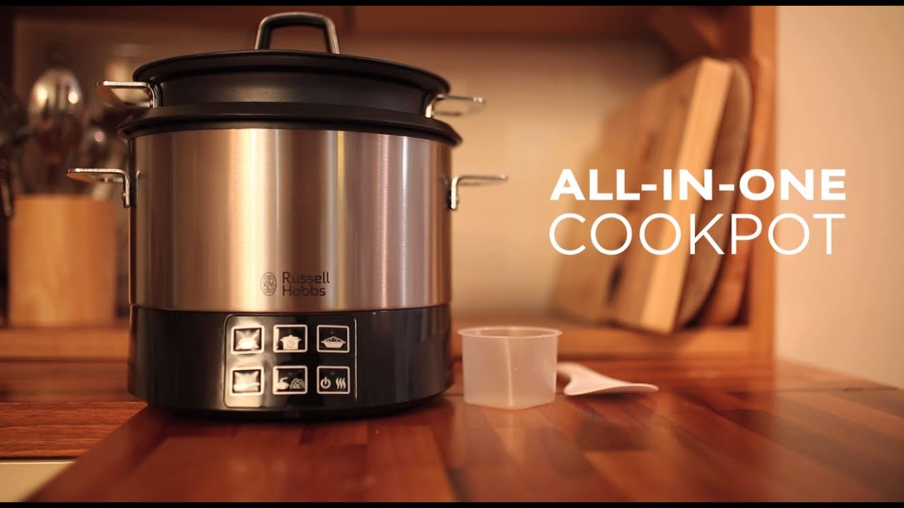 russell hobbs all in one cookpot youtube. Black Bedroom Furniture Sets. Home Design Ideas