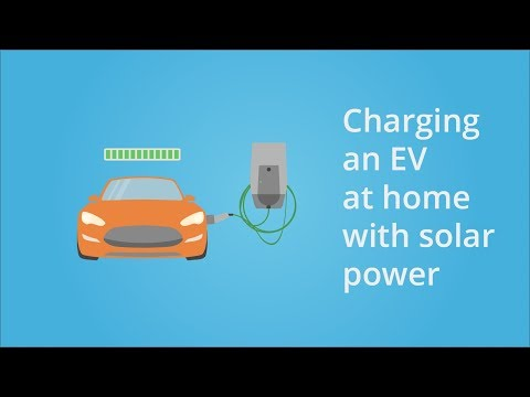 How to charge an electric vehicle with solar power