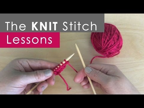 How To Knit The Knit Ch Knitting Lessons For Beginners