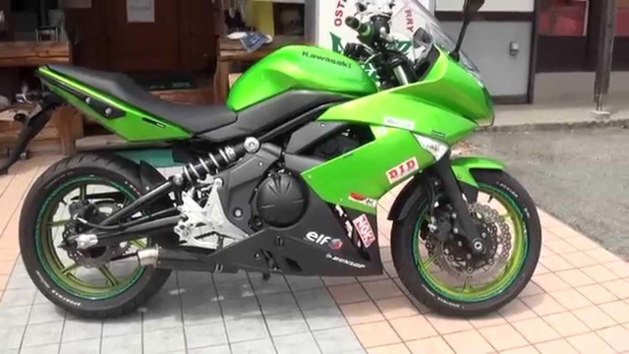 夜が必見 ライムグリーン伝説の忍者400 2013 Ninja 400R カワサキ・ニンジャ400R Lime green Ninja650 ER-4n - YouTube