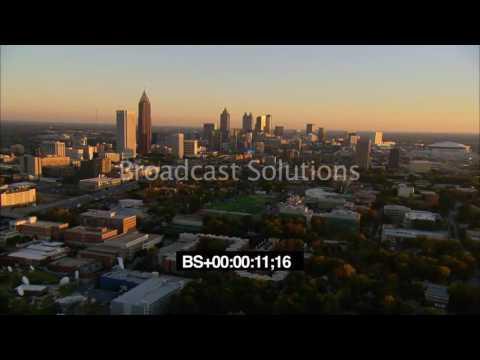 Aerials  Sunset Midtown Atlanta