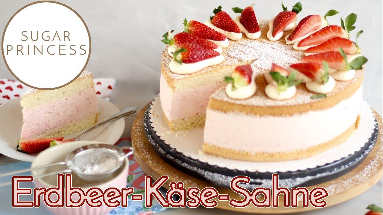 Traumhafte Erdbeer-Käse-Sahnetorte backen! Ostertorte / Geburtstagstorte | Rezept von Sugarprincess
