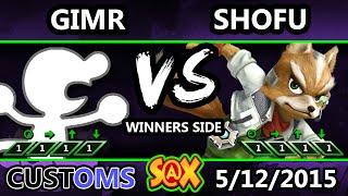 S@X Customs - VGBC | GimR (G&W) vs Shofu (Fox) SSB4 Tournament - Smash WIi U - Smash 4