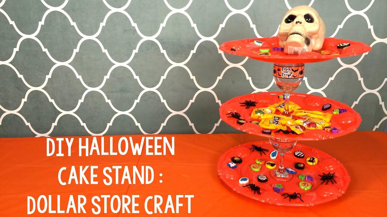 diy halloween cake stand youtube - Halloween Cupcake Holder