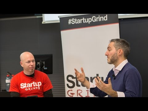 Viktor Calabrò (STAFF FINDER) at Startup Grind Zurich, w/ David Butler