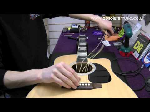 Absolute Music : Acoustic re-stringing tutorial