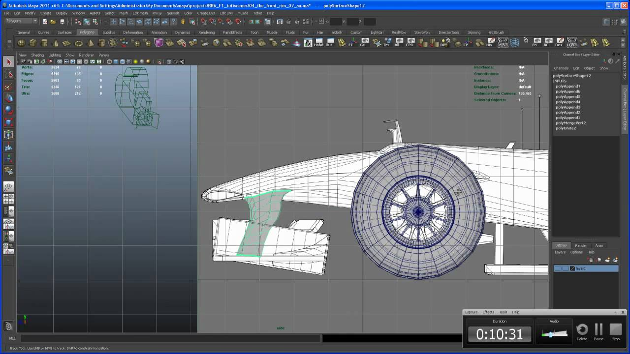Modeling tutorial in maya rb6 f1 car 05 simple parts 01 youtube modeling tutorial in maya rb6 f1 car 05 simple parts 01 malvernweather Choice Image