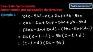 Caso 2 de Factorización: Factor Común por Agrupación de Términos