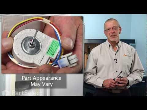 refrigerator repair - replacing the evaporator fan motor (ge part #  wr60x10185) - youtube
