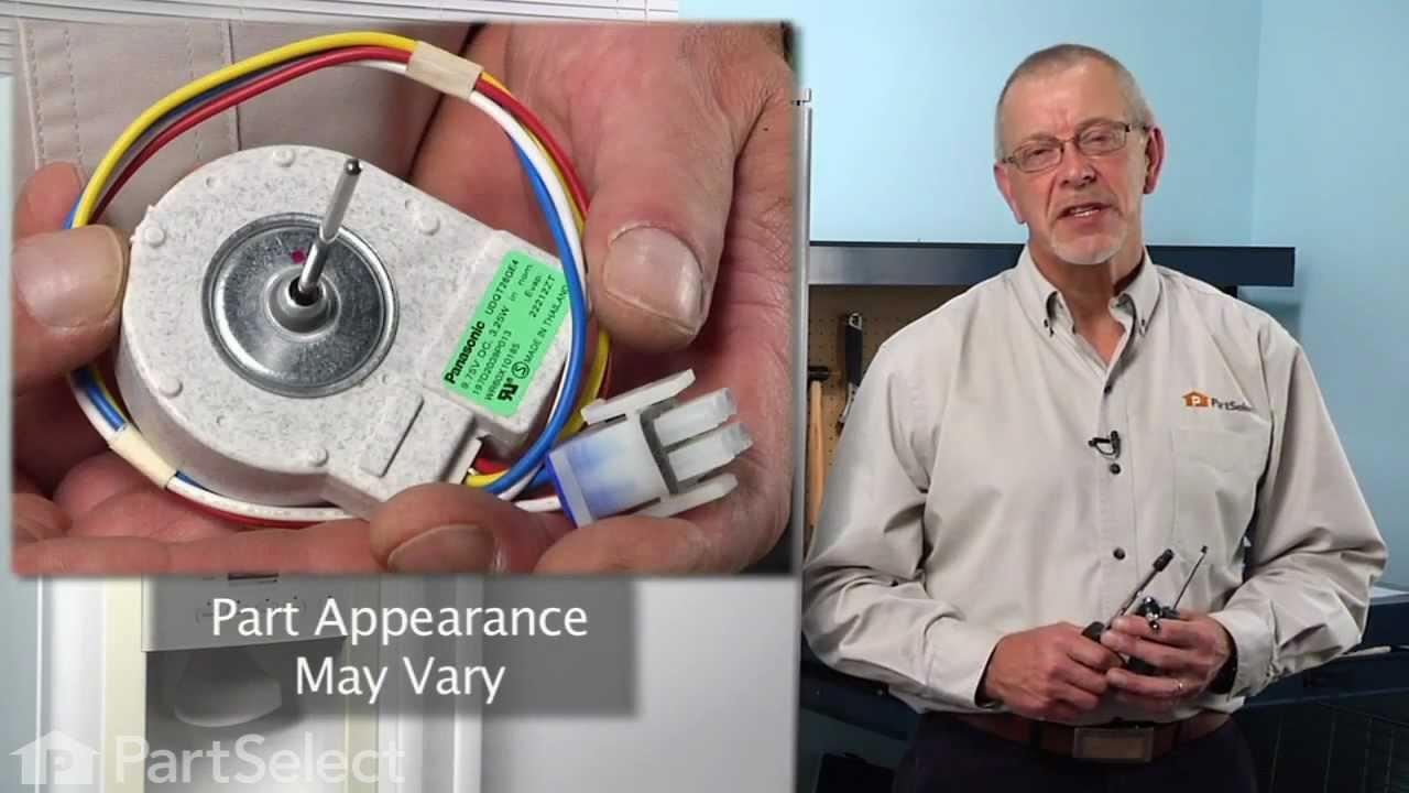 hight resolution of refrigerator repair replacing the evaporator fan motor ge part wr60x10185 youtube