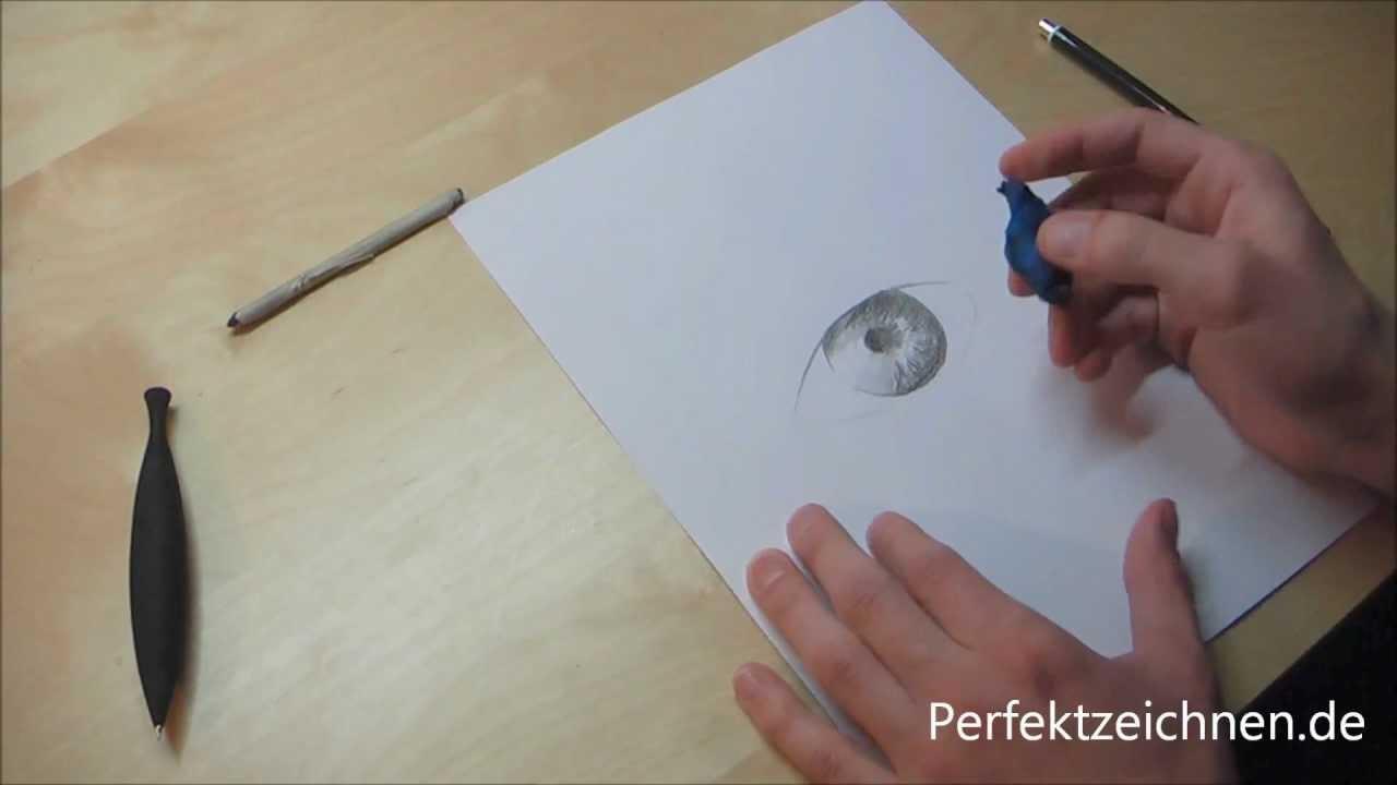 Genial ☆ Augen Zeichnen Lernen Online Pupille Iris wunderschön ...