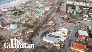 Hurricane Michael: footage shows devastation in Florida's Mexico Beach