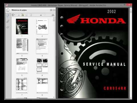 honda cbr954rr workshop repair service manual wiring youtube rh youtube com Honda CBR 954 Double Bubble Honda CBR 954 Double Bubble