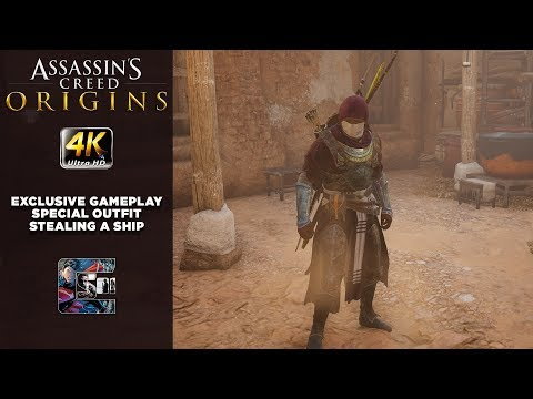 Assassin's Creed: Origins NEW Gameplay - Special Outfit / Stealing a Ship