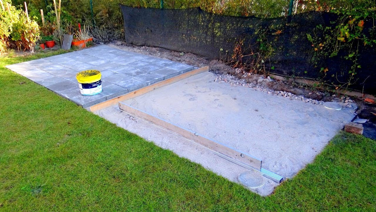 How To Build Shed Base Paving Slabs