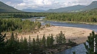 Норвегия:   заезд на реку Folla и спуск лодок