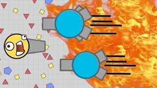 WORLDS FASTEST TANK EVER! - Diep.io Game Booster Vs Tri-Angle Gameplay! MAX LEVEL TANK!