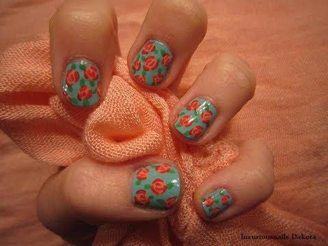 Romantic Roses Nail Art Tutorial