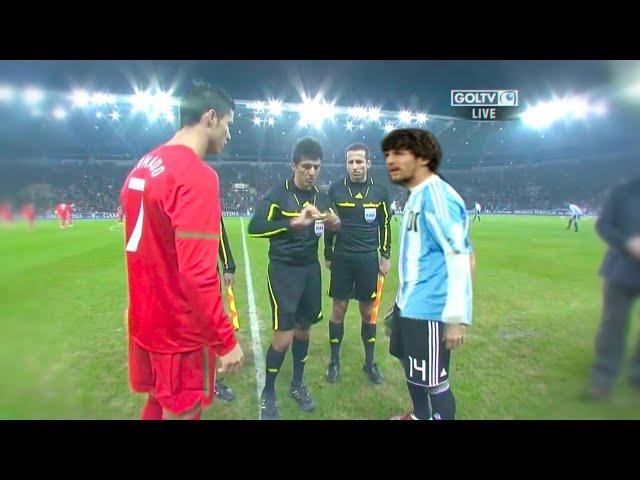 C. Ronaldo vs Leo Messi (Performances Comparison) | Portugal - Argentina 2011