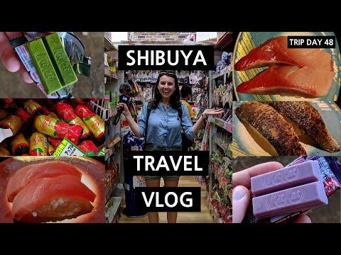 BEST SUSHI TRAIN IN SHIBUYA TOKYO (+ Kit Kats At Mega Don) Travel Vlog