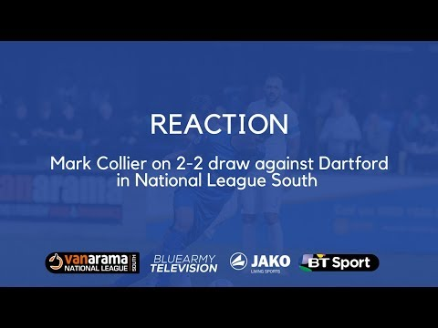 REACTION: Mark Collier reacts to 22 draw with Dartford in National League South