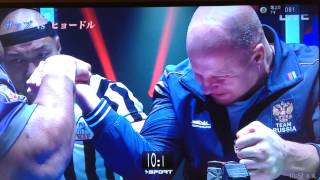 Fedorov vs Bob Sapp in ARM Wrestling Competition in Japan - フェドロフ vs ボブ・サップ