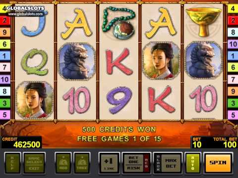 The Ming Dynasty videoslot gameplay video GlobalSlots Casino