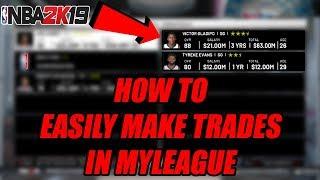 Kolayca Öğretici 2k19|2K19 MyLeague NBA'DE ticaret Yapmak İçin nasıl
