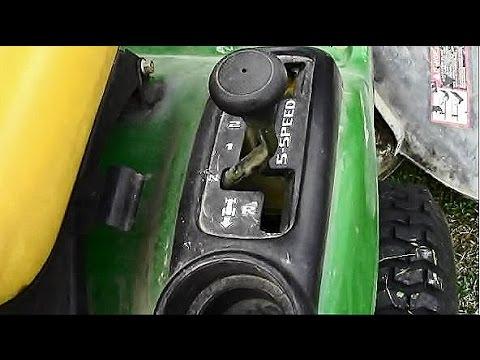 Transmission Problem Fix on John Deere 100 Series Riding Lawnmower