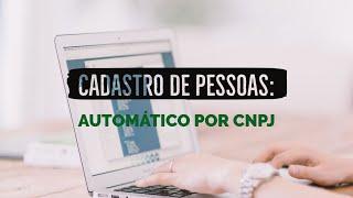 Cadastro automático por CNPJ