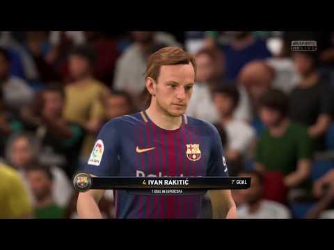FIFA 18 SPANISH SUPER CUP: Barcelona vs Real Madrid first leg
