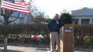 Paul Lepage, candidate for Maine Governor 2010, at the Augusta Tea Party November 2009