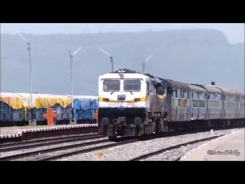 Holi Special! SPEEDY Twin AlCo+EMD Action on Busy Itarsi-Allahabad Route! Indian Railways