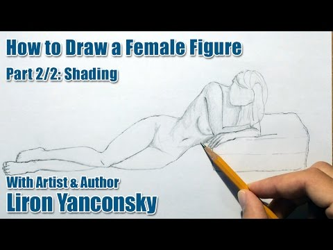 How To Draw A Female Figure Laying On The Floor: Part 2/2 - Shading