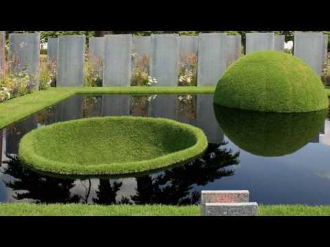 Landscape design in high-tech style