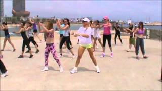 ZUMBA classes on a beach in Barcelona