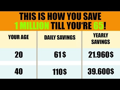 How To Save 1 Million💰💰💰