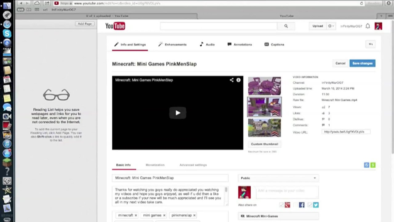 How To Put A Custom Thumbnail On Your Youtube Videos 2014