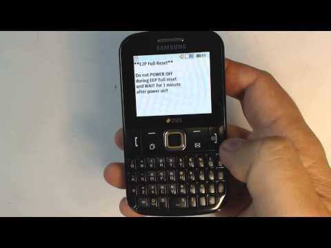 Samsung E2222 Ch@t222 - How To Reset - Como Restablecer Datos De Fabrica