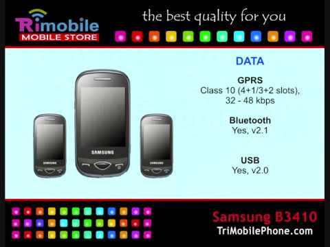 Samsung B3410 Mobile Phone Specification, Features and Slide show