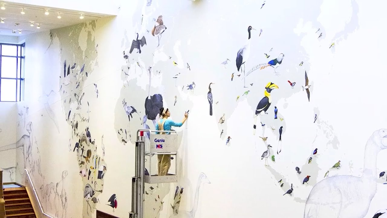 Artist jane kim reflects on her giant mural at the lab of ornithology