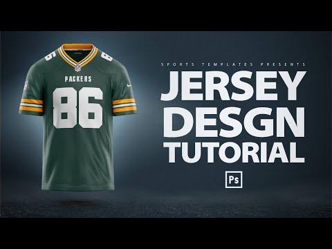 Design An NFL Football Jersey Concept | Photoshop Tutorial