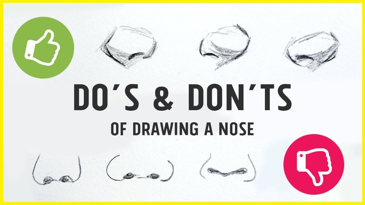 how to draw a nose youtube