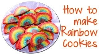 Rainbow Cookies Made With Refrigerator Cookie Dough
