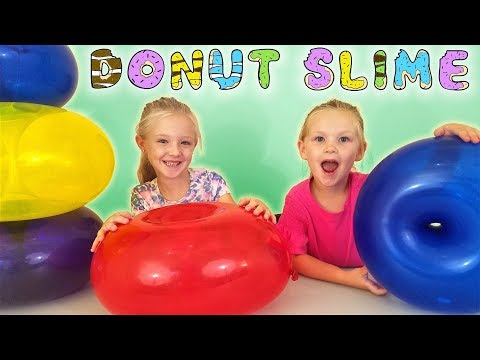 Find Your Slime Ingredients Challenge! Crazy Giant Donut Balloons Scavenger Hunt!